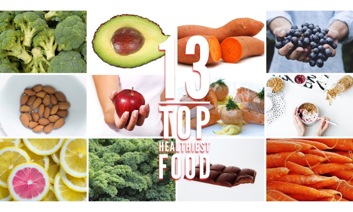 13 TOP HEALTHIEST FOOD~VERY SIMPLE